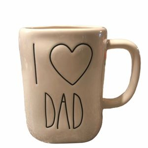 Rae Dunn I LOVE DAD mug NEW! White large letter